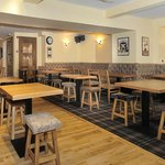 Refurbished bar and lounge