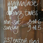 Opening Times!