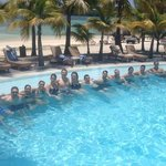 A bunch of my colleagues at the second pool
