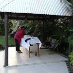 A massage outdoors