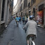 ride along street in Rome