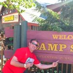 camp snoopy, with a fridays bloody mary, noting better!