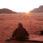Bedouin watching sunset