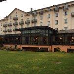 Backyard of the Hotel