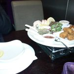 The tasty sharing seafood platter - amazing scallops