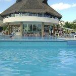 La piscina y su bar