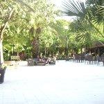El patio central (lobby al aire libre)