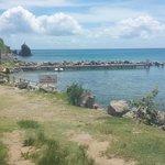 View towardsthe beach bar