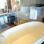 bath tub at our deluxe room