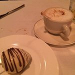 Chocolate covered strawberry and Cappuccino...