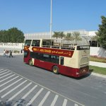 The bus at the Manarat Al Saadiyat stop