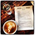 Cafe Latte with Brunch Menu