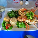 Lobster for lunch at Azur