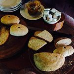 Morning Breakfast with homemade bread!