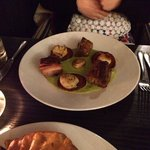 Excellent scallops, chorizo and belly pork