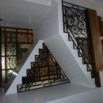 Beautiful stairway in hotel