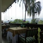 Dining area - great views of Cuenca