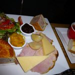 Ploughman's plate at Old Thatch Tavern