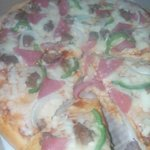Topping was similar to fiesta or town's pizza