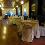 Dining area - we felt like we were crashing someone's wedding reception!
