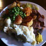 The beef carvery - the huge Yorkshire pudding was refused