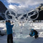Ice carving happens every year in January.