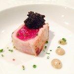Seared Tuna, Osetra Caviar & Nori Mayo