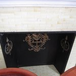 fake fireplace with mantle
