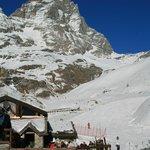 Skiing under the Matterhorn