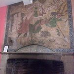 Olde picture in dining room above open fire, beautiful !