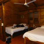 Our room with two beds - seemed to be bigger than twins but smaller than doubles