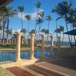 view from the beach buffet restaurant