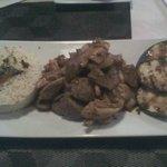 Hibachi Filet Mignon with Chicken, Sun-Dried Tomato and Garlic Butter Rice, and Zucchini $24