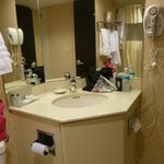 Another view of bathroom - excuse our mess
