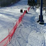 Going up the chairlift