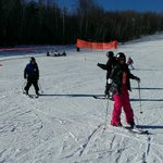 First skiing lesson