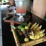 Fruits and fruit caipirinhas for lunch