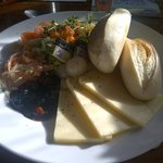 Well crafted cheddar ploughmans