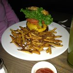 "Tuna Burger @ ""Spring"" on Columbus Ave"