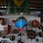 A decoração é toda em ambiente de marinheiros