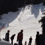 Rope tow and half the resort at entrance!