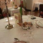 Tavolo per cena di san Valentino (un po mossa)