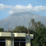 View of Mt. Meru from window