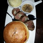 Carpet bagger steak with Colchester oyster pie
