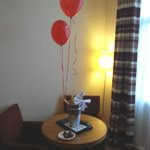 Helium Balloons in our room