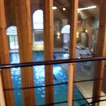 Picture taken from Gym looking down on the pool below.