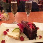 Perfect Ending: Champagne, Chocolate Spoon Cake, and Key Lime Pie at Square Root, Hendersonville