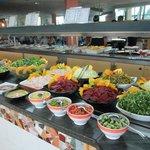 buffet frais, chaud et bon choix