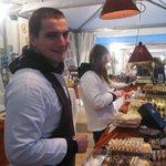 stand e artisti del cioccolato in piazza Grande a MO:grazie a tutti !