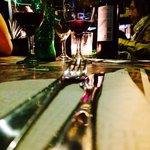 Detalhe da mesa.